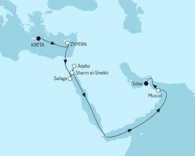 2019-10 – 17 Naechte – Suez-Kanal (MEIN SCHIFF 6) – fuer Fotos just click auf Reiseroute