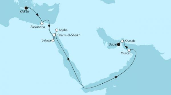 2018-11 2/17 Naechte – Suez-Kanal (MEIN SCHIFF 3)