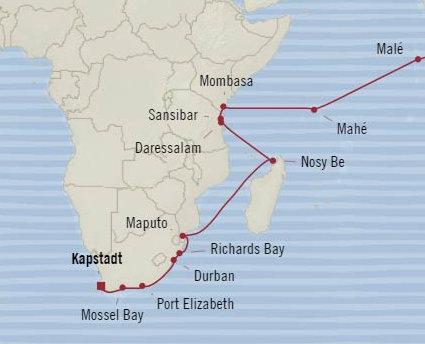 20 Naechte – Indian Ocean Jubilee – OCEANIA NAUTICA
