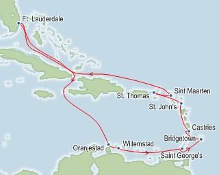 14 Naechte Suedkaribik Cruise mit der CELEBRITY CONSTELLATION