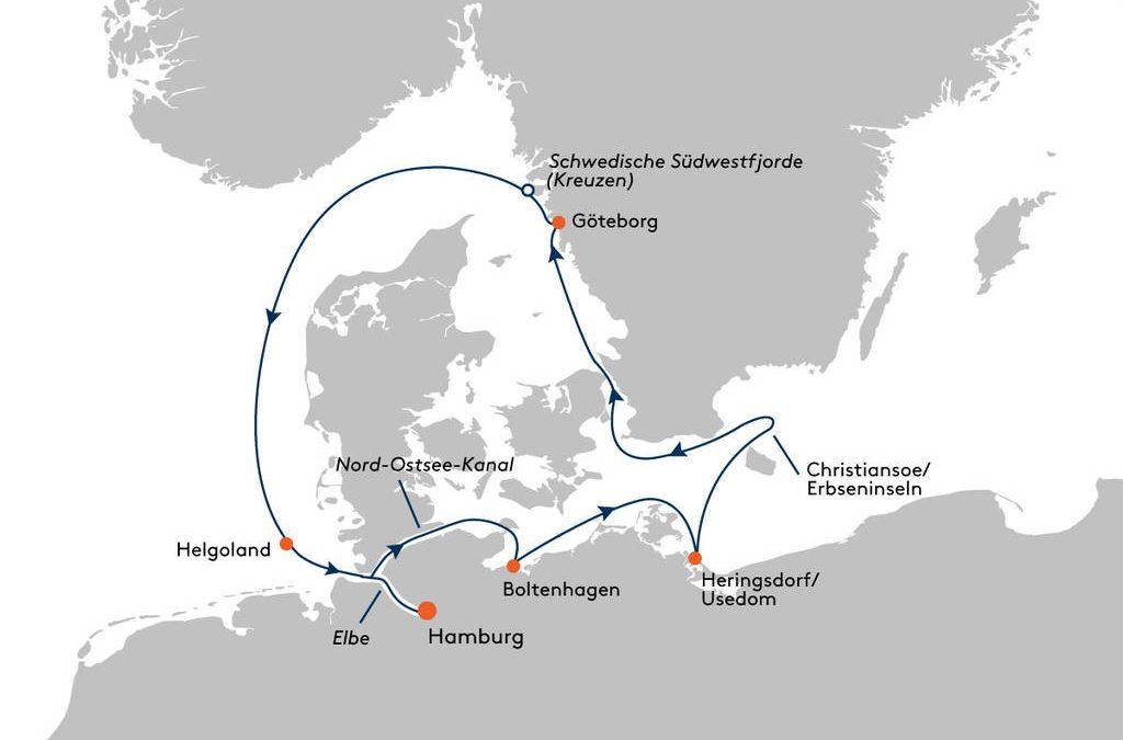 2020-09 HANSEATIC inspiration – Nordische Küsten – (Fotos just click auf die Reiseroute)